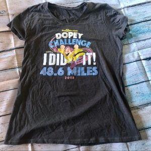 Disney's Dopey challenge race tee shirt